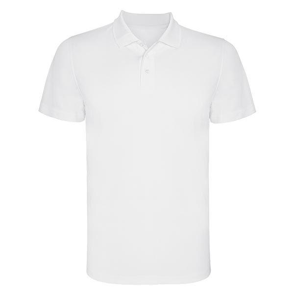 Polo personalizzata unisex cotone bianca