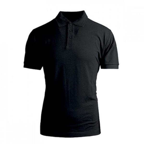 Polo personalizzata unisex cotone nera