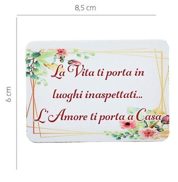 Magnete personalizzato rettangolare. Personalizzabile con foto, frasi, loghi o disegni. Ideali anche per battesimi, matrimoni e ogni altra occasione