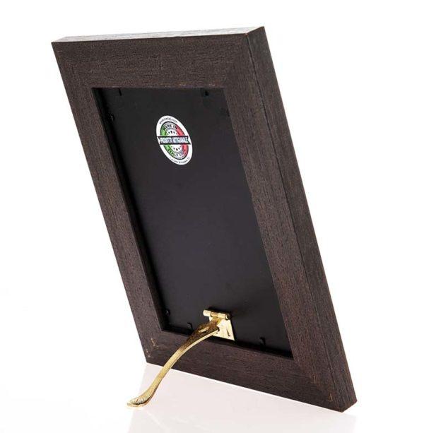 Cornice portafoto artigianale in legno MOD 140 posizionabile sia in verticale che in orizzontale, un'idea regalo unica e preziosa