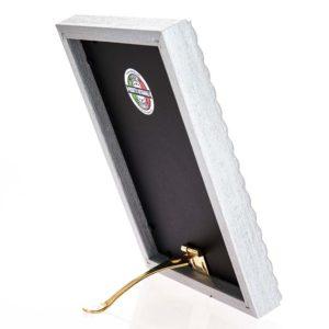 Cornice portafoto artigianale in legno MOD 150 posizionabile sia in verticale che in orizzontale, un'idea regalo unica e preziosa