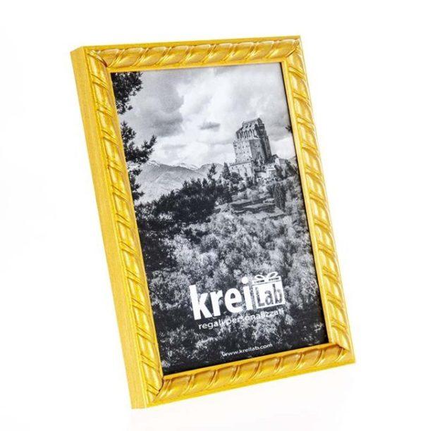 Cornice portafoto artigianale in legno MOD 160 posizionabile sia in verticale che in orizzontale, un'idea regalo unica e preziosa