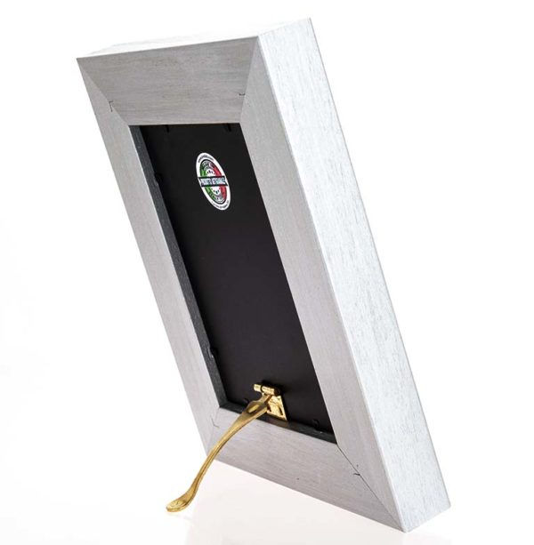 Cornice portafoto artigianale in legno MOD 170 posizionabile sia in verticale che in orizzontale, un'idea regalo unica e preziosa