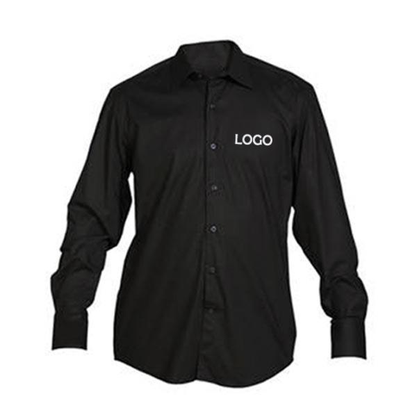 Camicia personalizzata nera. Stampa la tua camicia con il tuo nome o il tuo logo. Rendi la tua camicia personalizzata e unica come te.
