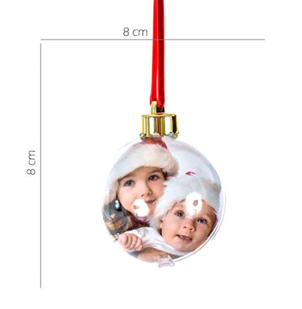 Pallina di natale con foto personalizzata. Rendi unico il tuo Natale, personalizza il tuo albero con la pallina unica come te.