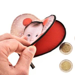 Portamonete personalizzato a forma di cuore