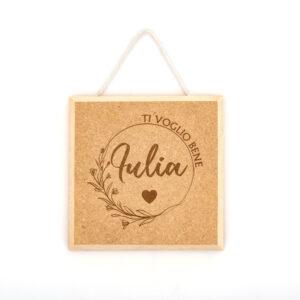 Quadretto in legno inciso. Rendi il quadretto unico e personalizzalo con la tua frase preferita. Solo da Kreilab in corso dora 28 Avigliana.